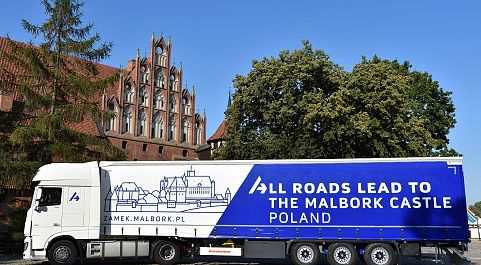 ALL ROADS LEAD TO THE MALBORK CASTLE. POLAND.